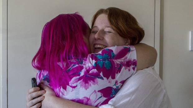 Jo Bean and Bridie Boyd (right) shared a celebratory hug after the result was announced.
