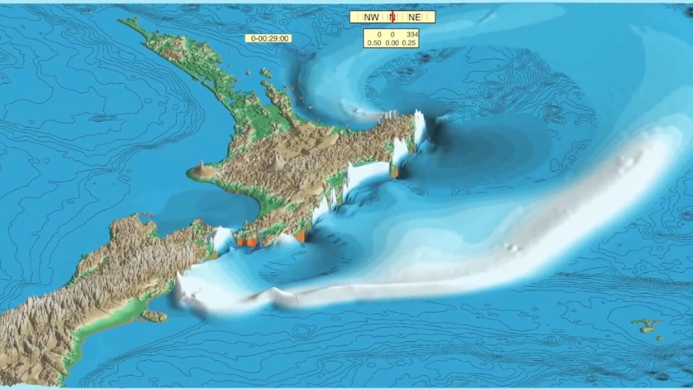 Megathrust quake could bring 12m-high tsunami waves to New Zealand's