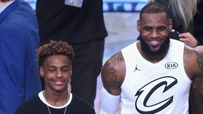 820d5e4e828a LeBron James  13-year-old son wows NBA stars at junior basketball ...