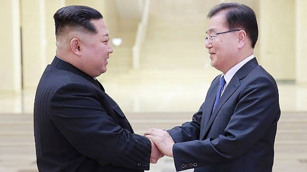 Kim looks for closer ties with South Korea