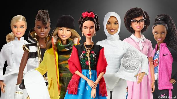 From artists to snowboarders the new Barbie series features a range of inspiring women