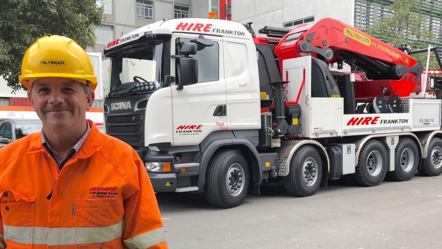 Biggest knuckle boom crane in southern hemisphere arrives in