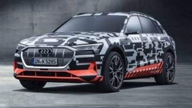 The New Audi E Tron Prototype All Electric SUV, Previewed At The Geneva