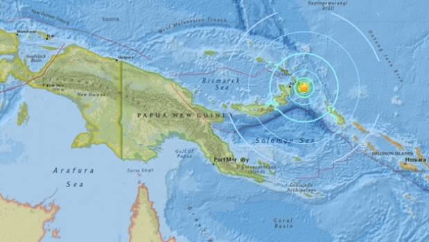 A powerful quake  in Papua New Guinea: more than 50 dead