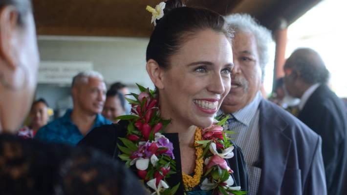 Jacinda Ardern  arrives in Niue