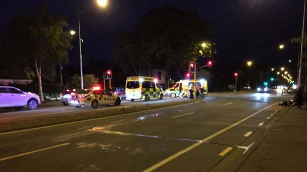 Person Seriously Injured In Car And Motorcycle Collision Stuffconz - In car