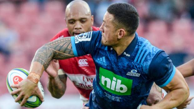 Sonny Bill Williams formed a massive midfield with Rieko Ioane when the Blues beat the Lions last weekend.