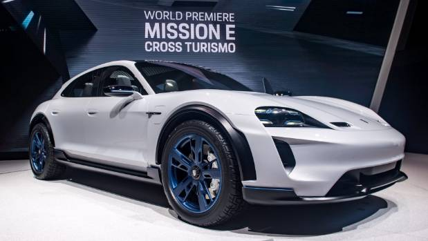 Listen to Porsche Mission E's Electric Whine as Prototype Hits McDonald's