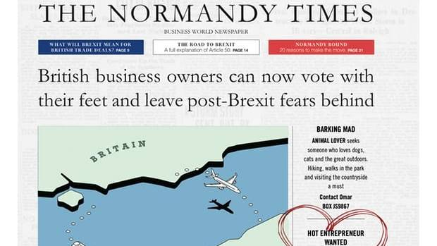 Normandy's Brexit ad campaign banned from London's Tube for being too controversial