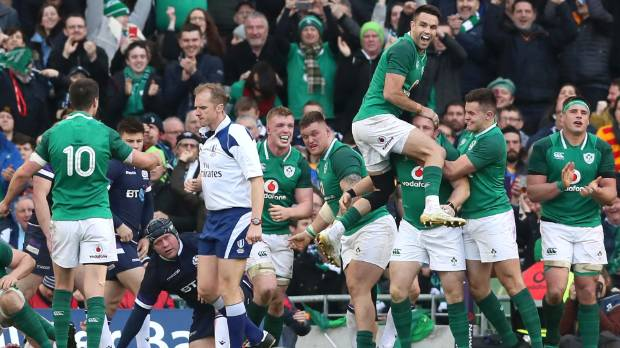 The Irish are riding high after their victory over Scotland clinched a Six Nations title and the world's No 2 ranking