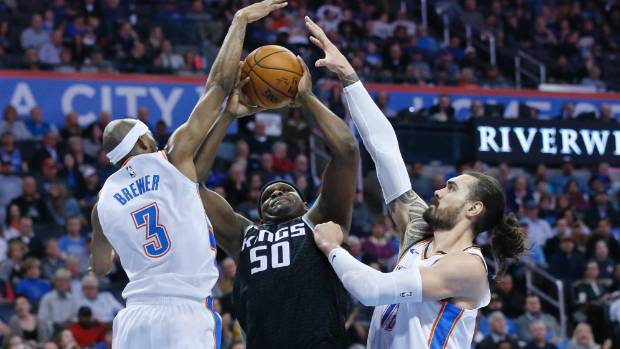 Steven Adams injured again as Oklahoma City Thunder topple Sacramento Kings