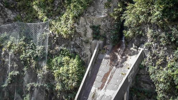 A man was rescued from the Reid Falls Flume after falling 50 metres down a cliff near the Otira Gorge Rock Shelter ...
