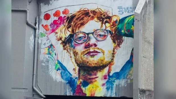 Image result for ed sheeran dunedin painting