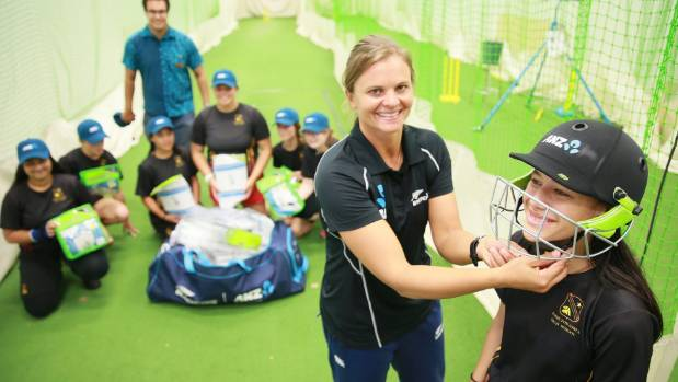 White Ferns Captain Suzie Bates helps out Hamilton Girls' High School to ride the wave of women's cricket that is ...