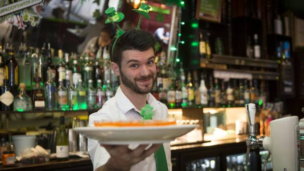 Green Man pub acting general manager Keith Hennessy will be in charge of the St Patrick's Day party for the first time