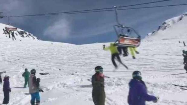 Out Of Control Chairlift Sends Skiers Flying In Terrifying Video
