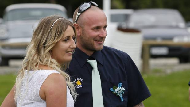 Timaru newly weds gets Hurricanes congratulations