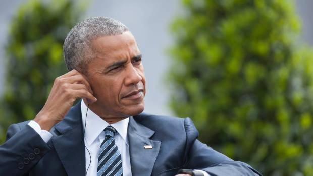 Barack Obama lands in New Zealand