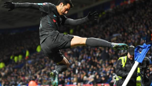 Pedro heads Chelsea into FA Cup semifinals in extra time