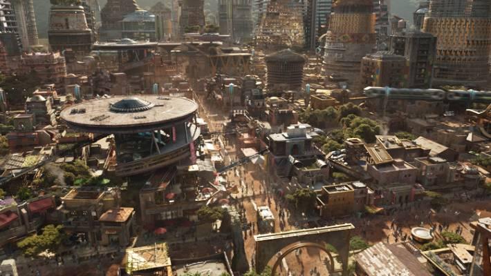 The fictional kingdom of Wakanda.