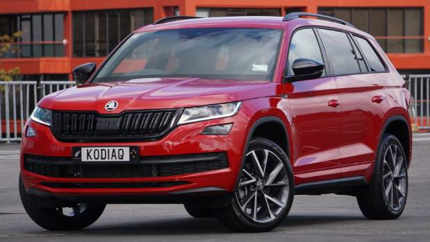 skoda kodiaq sportline really is loaded for bear. Black Bedroom Furniture Sets. Home Design Ideas