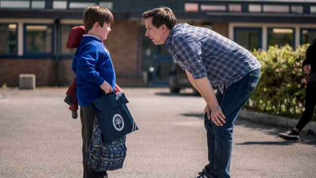 Lee Ingleby and on-screen son Max Vento