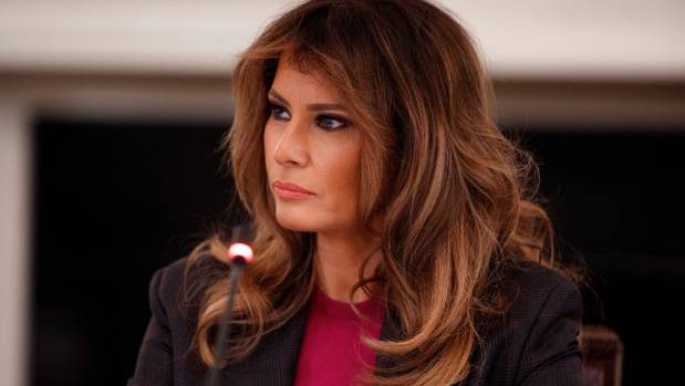 Melania looks untroubled by claims of Trump affairs