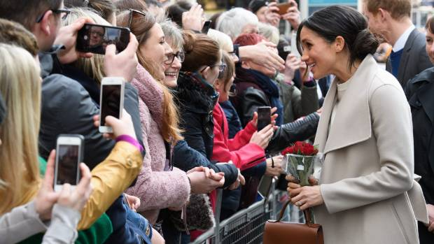 Markle meets the crowds during a walkabout