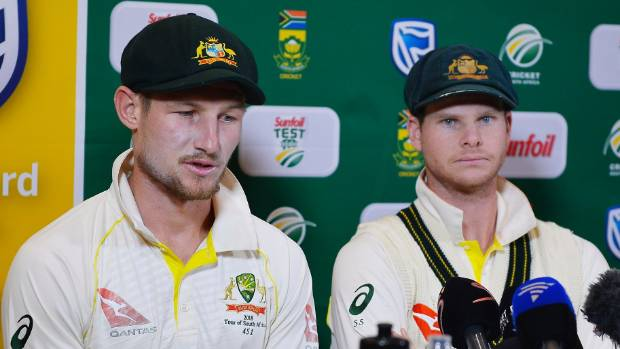 Cameron Bancroft and Steve Smith fronted up after the third day of Australia's test against South Africa