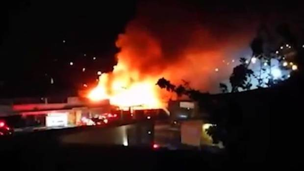 More than 40 firefighters tackled a blaze in Porirua overnight.