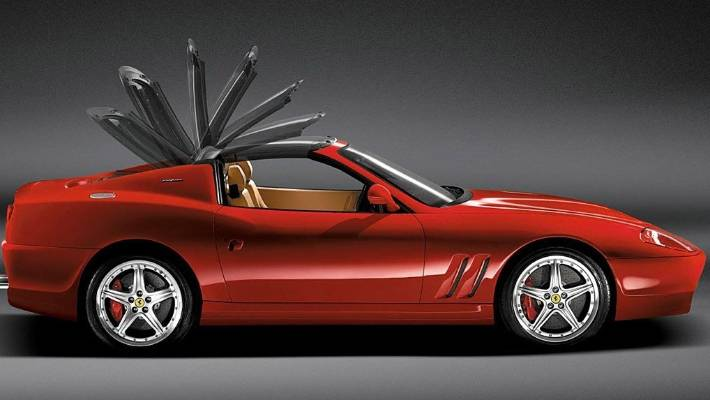 Ferrari 575m Superamerica Had A Super Strange Flipping Targa Top