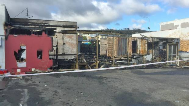 A large fire burned out a derelict building at the Cannons Creek Shopping Centre in Porirua on the night of March 25.