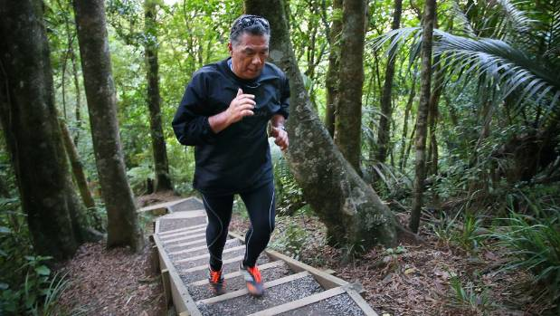 Reg Hohaia climbs the Hakarimata Summit Track almost every day.