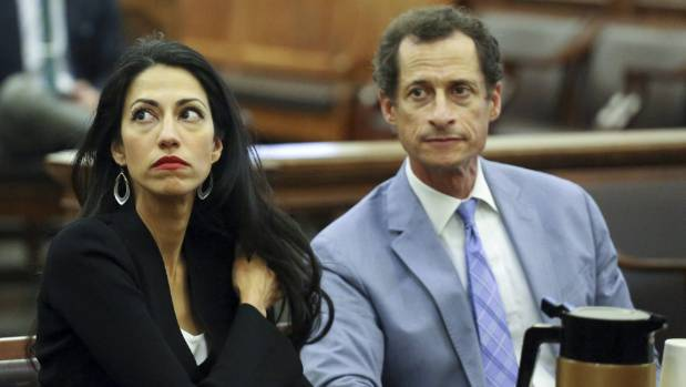 Huma Abedin stuck by her husband Anthony Weiner through a sexting scandal  but later divorced.