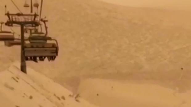 Orange Snow in Russia's Sochi Compliments of Sahara Desert