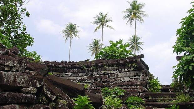 Nan Madol ruins in Pohnpei.