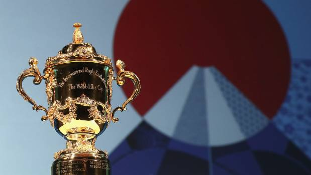 Rugby's Webb Ellis Cup which goes to the World Cup winner.