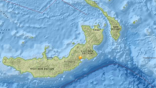 Quake  measuring 7.2 hits the coast of Papua New Guinea