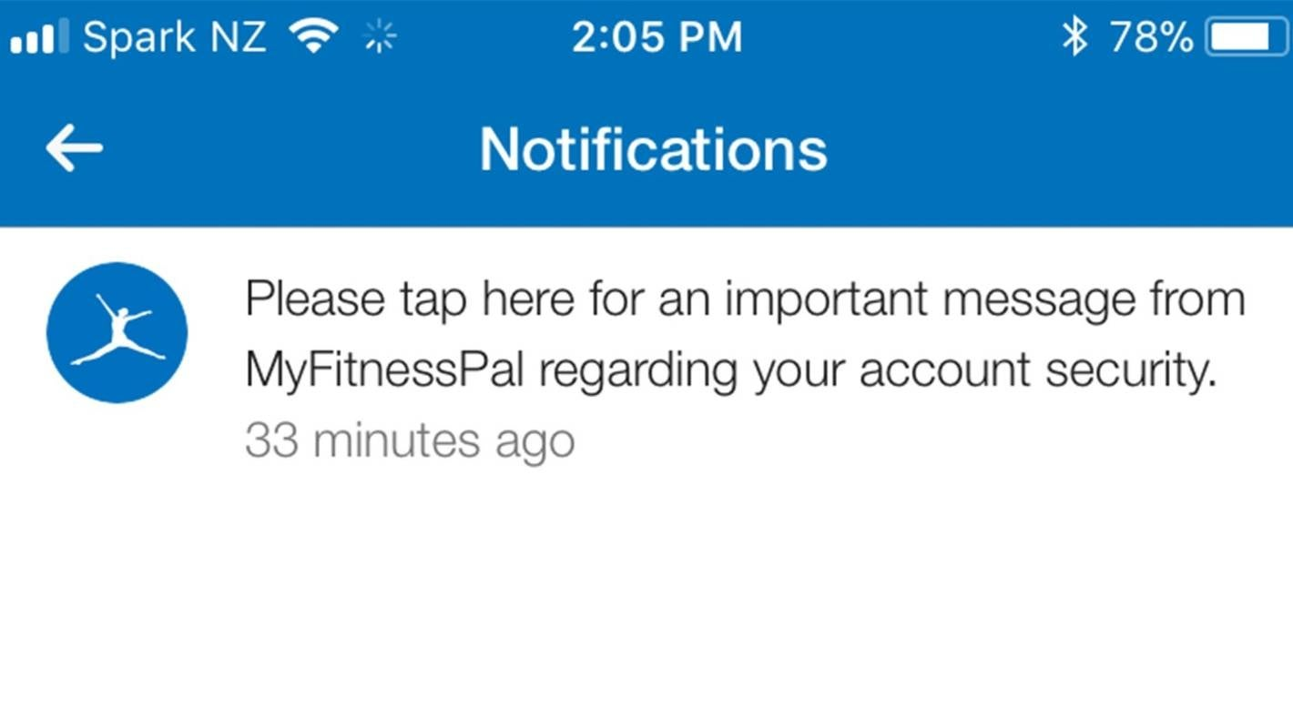 Kiwis affected by massive Under Armour MyFitnessPal app