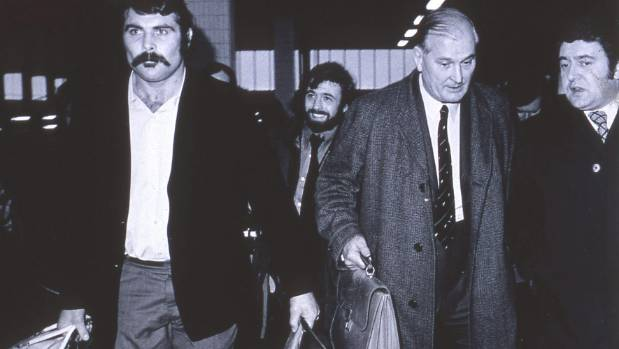 Keith Murdoch at London's Euston Station after being expelled from the All Blacks tour of Britain, Ireland and France.