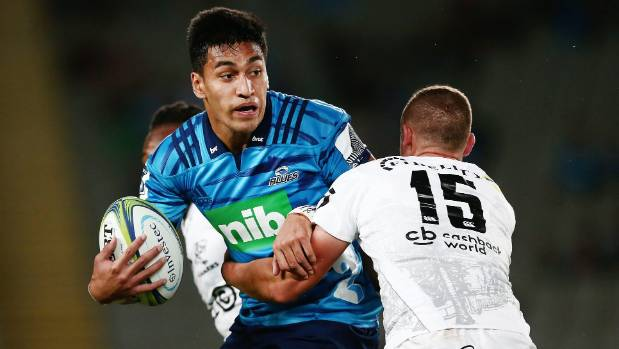 Blues and All Blacks wing Rieko Ioane was an age-group team-mate of rising weightlifting talent David Liti in Auckland rugby