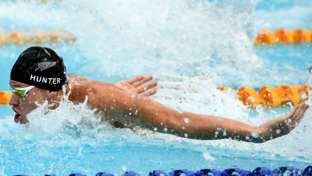 Daniel Hunter qualified for the men's 50m butterfly semifinals early on day one on the Gold Coast.