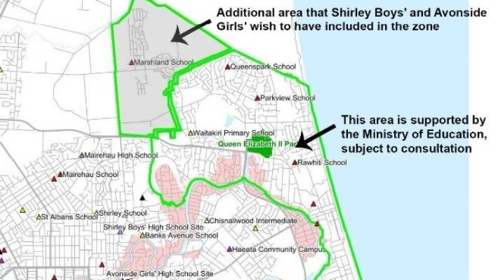 The New School Campus Map.Locals Feel Abandoned As Proposed Zone For New Schools Includes