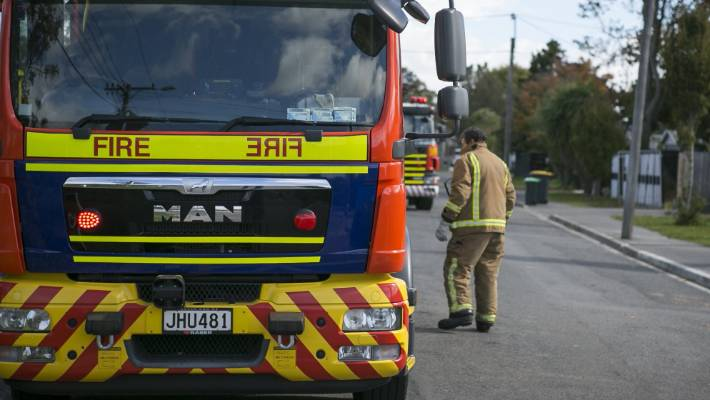 Three fire trucks were seen at the scene of the incident (photo file).
