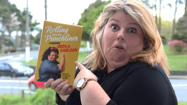 Urzila Carlson released her memoir Rolling with the Punchlines in 2016.