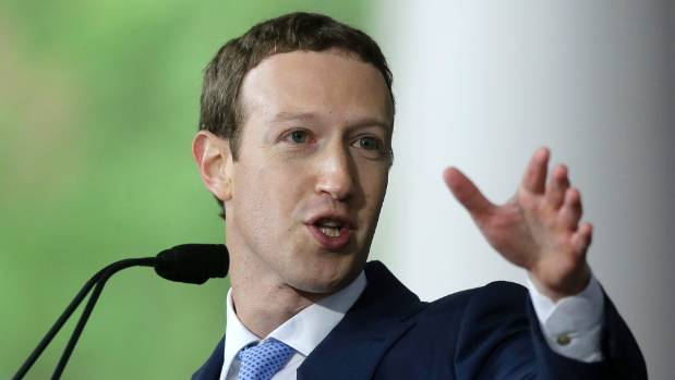 Facebook CEO Mark Zuckerberg could slide to sixth place from third on the Bloomberg Billionaires Index if the downward