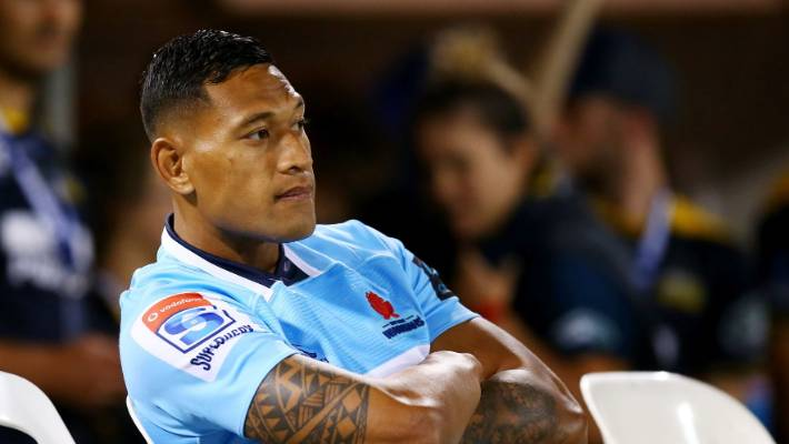 Israel Folau posts a Biblical verse hinting he is being