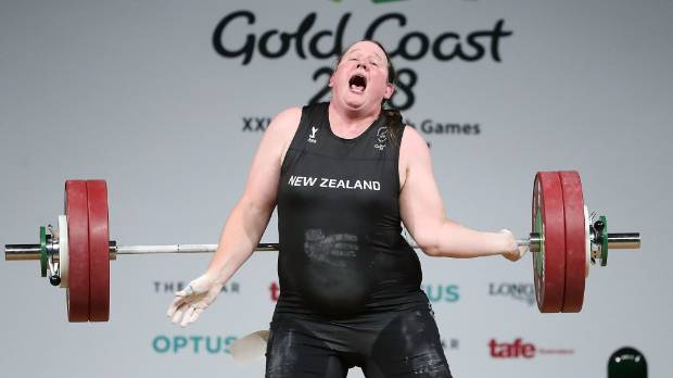 Laurel Hubbard of New Zealand was forced out of the women's +90kg final after injuring her elbow during the