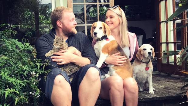 Benny's owners Matt and Grace Newman-Hall launched an extensive search of the Belmont Regional Park, backed by some 50 ...