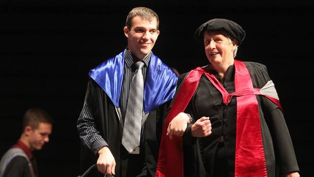 A proud moment in 2013 when Morgan graduated with a Bachelor of Science from the University of Canterbury, with Dr Sue ...